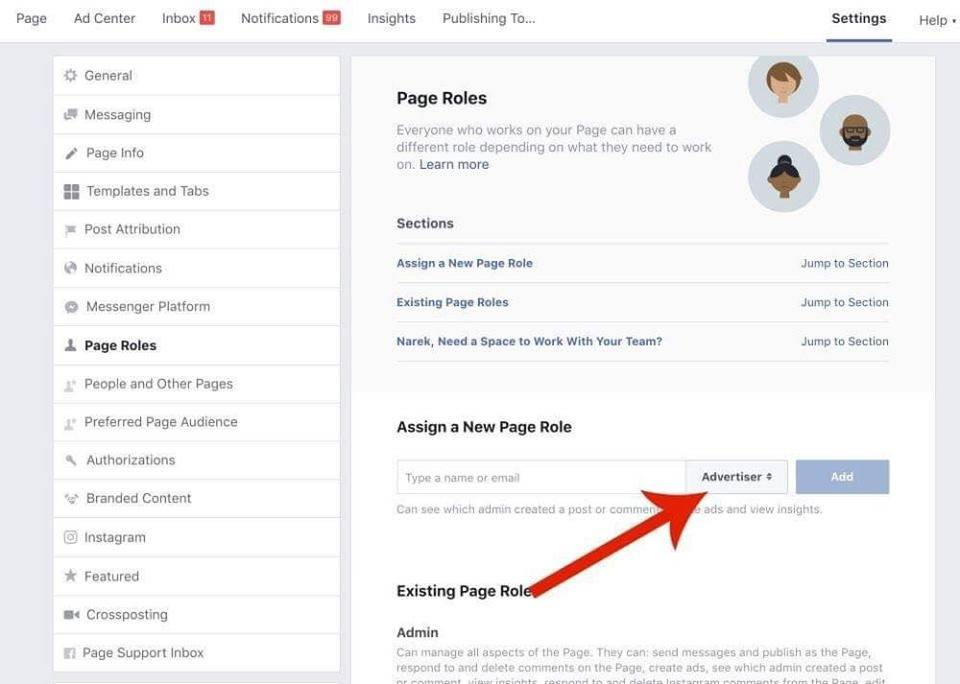 facebook advertisters access