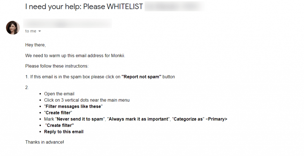 whitelist your emails