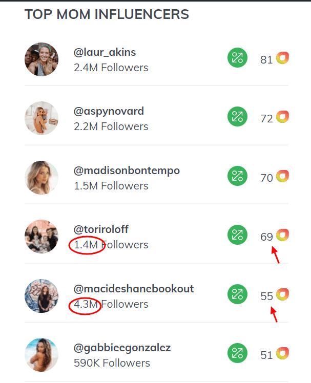 top mom influencers